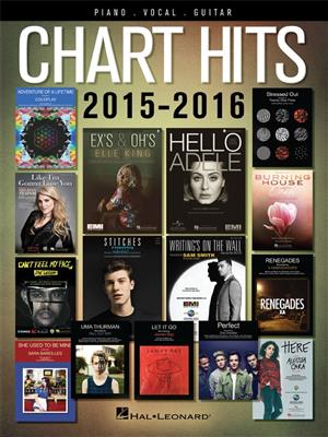 Chart Hits of 2015-2016: Piano, Vocal and Guitar (songbooks)