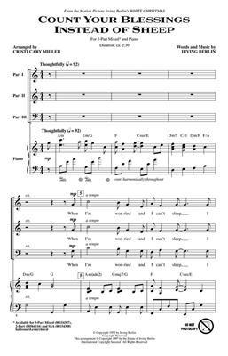 Count Your Blessings Instead of Sheep: Arr. (Cristi Cary Miller): 3-Part Choir