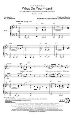 Mark Brymer: What Do You Mean?: Mixed Choir