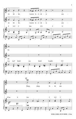 Dors, Dors, Petit Bebe (sleep, Little One): Arr. (Cristi Cary Miller): 2-Part Choir