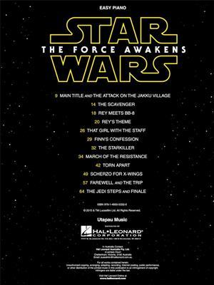 John Williams: Star Wars: The Force Awakens (Easy Piano): Easy Piano