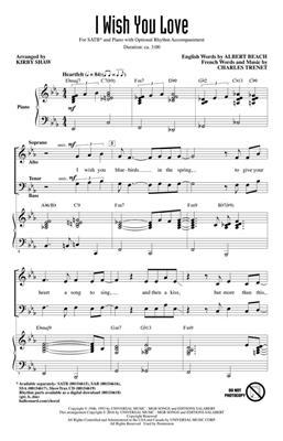 Kirby Shaw: I Wish You Love: Mixed Choir
