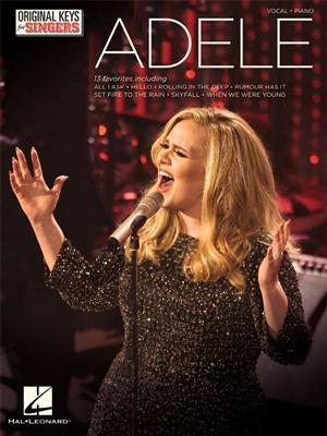 Adele: Adele: Original Keys For Singers: Vocal