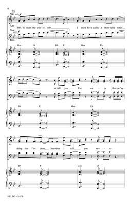 Adele: Hello (SATB): Mixed Choir