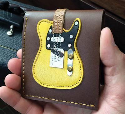 Blonde Electric Guitar Wallet