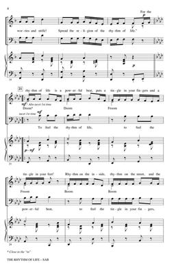 The Rhythm of Life: Arr. (John Leavitt): SAB