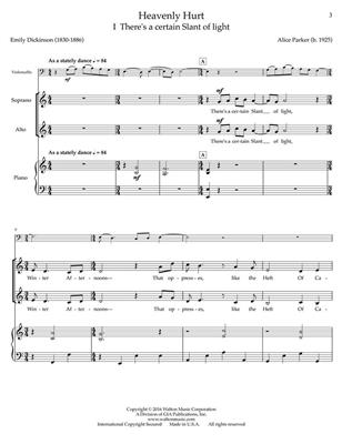 Alice Parker: Heavenly Hurt: Mixed Choir and Accomp.