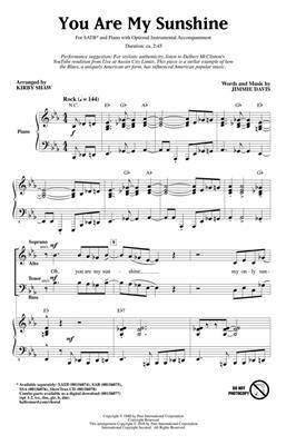 Hal Leonard: You Are My Sunshine