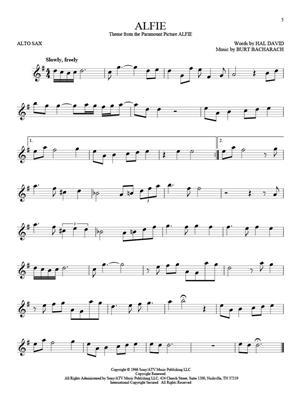 101 Movie Hits for Alto Saxophone: Alto Saxophone