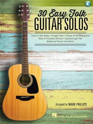 30 Easy Folk Guitar Solos: Guitar
