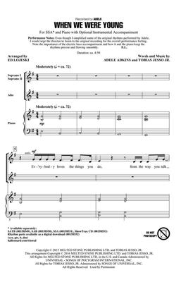 Ed Lojeski: When We Were Young (SSA): Women's Choir