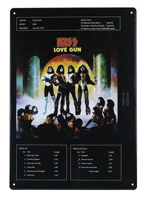 Kiss: Love Gun - Tin Sign: Gifts