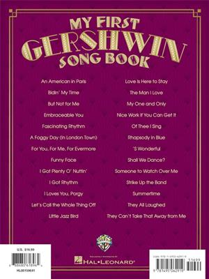 My First Gershwin Song Book: Piano or Keyboard