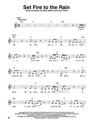 Adele: Adele: Melodyline, Lyrics and Chords
