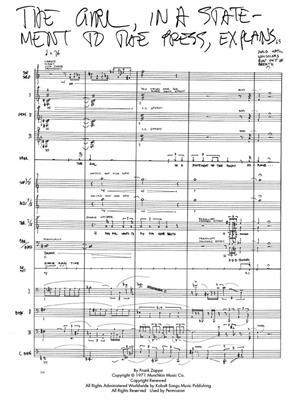 Frank Zappa: Frank Zappa Songbook - Vol. 1: Piano, Vocal and Guitar (songbooks)