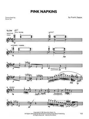 The Frank Zappa Guitar Book: Guitar