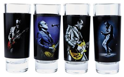Joe Bonamassa 4-Piece Shot Glass Set -Lithos 1 & 2: Gifts