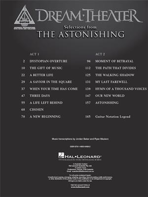 Dream Theater - Selections from The Astonishing: Guitar