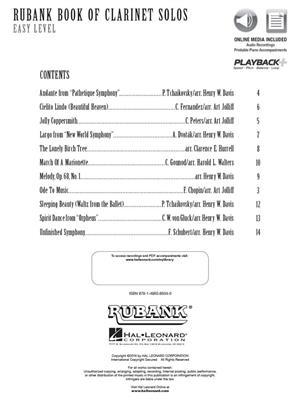 Rubank Book of Clarinet Solos - Easy Level: Clarinet