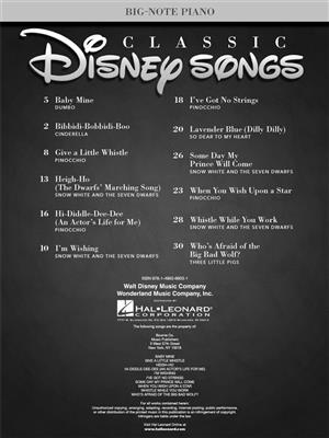 Walt Disney: Classic Disney Songs - Big Note Piano Songbook: Melody, Lyrics and Chords