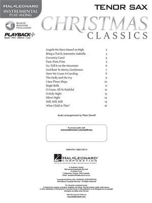 Christmas Classics - Tenor Saxophone: Saxophone