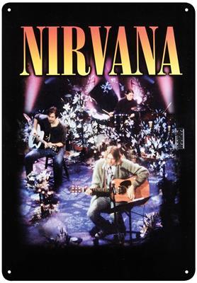 Nirvana Tin Sign - MTV: Gifts