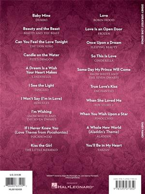 Disney Greatest Love Songs: Easy Piano
