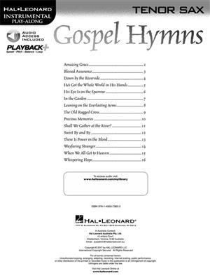 Gospel Hymns - Tenor Saxophone: Saxophone