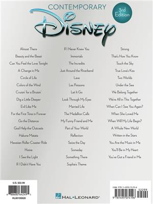 Contemporary Disney - 3rd Edition (PVG): Piano, Vocal, Guitar