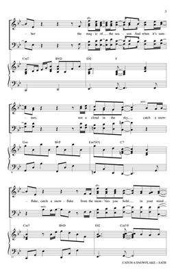 Catch a Snowflake: Arr. (Mac Huff): SATB