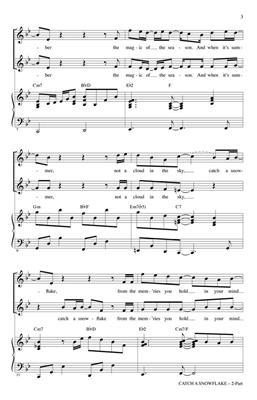 Catch a Snowflake: Arr. (Mac Huff): 2-Part Choir