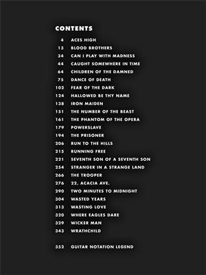 Iron Maiden: Guitar Tab - 25 Metal Masterpieces: Guitar TAB