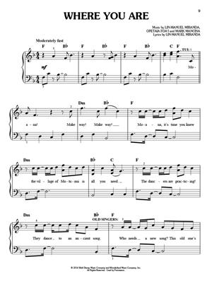 Lin-Manuel Miranda: Moana - Easy Piano: Piano or Keyboard