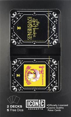Jimi Hendrix Double Deck Playing Card Set w. Dice: Gifts