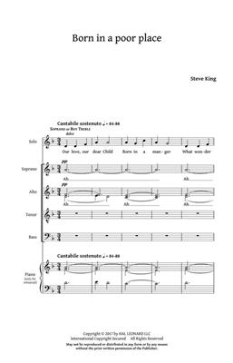 Steve King: Born in a Poor Place: SATB