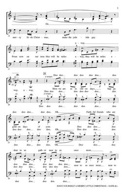 Hugh Martin: Have Yourself a Merry Little Christmas: Arr. (Kirby Shaw): SATB