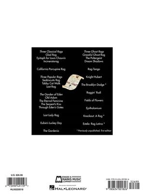 William Bolcom: Complete Rags for Piano: Piano or Keyboard