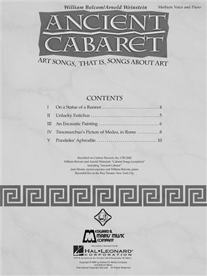 William Bolcom: Ancient Cabaret: Vocal