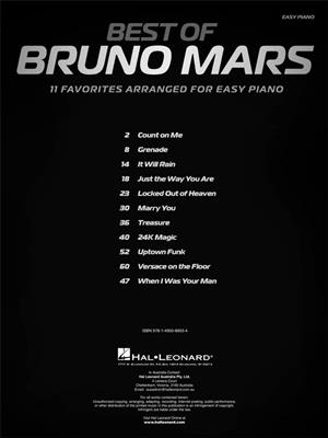 Best Of Bruno Mars: Piano or Keyboard