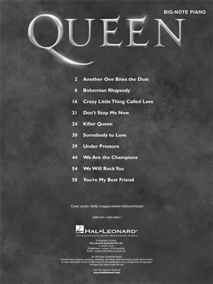 Queen: Queen for Big-Note Piano: Piano or Keyboard