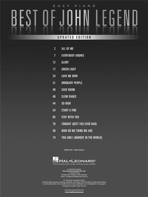Best of John Legend: Piano or Keyboard