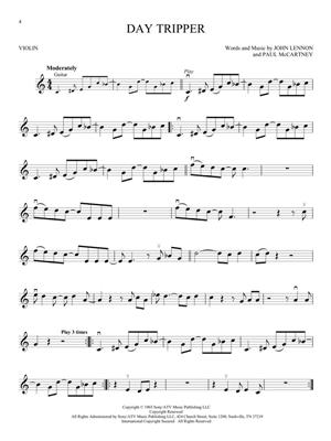 The Beatles - Instrumental Play-Along Violin: Violin