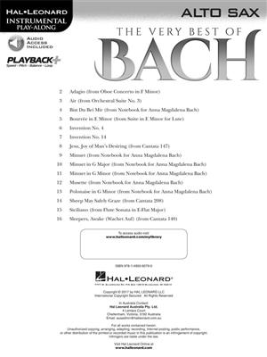 The Very Best of Bach - Alto Saxophone: Saxophone