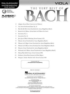 The Very Best of Bach - Viola: Viola
