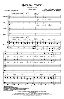 Oscar Peterson: Hymn to Freedom: Arr. (Paul Reid): SATB