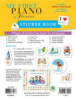 My First Piano Adventure Sticker Book: Piano or Keyboard