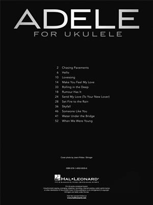 Adele: Adele for Ukulele: Ukulele