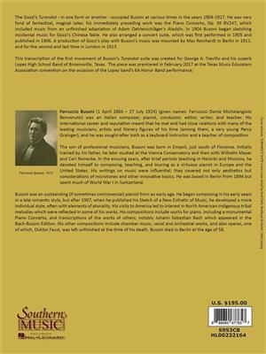Ferruccio Busoni: Turandot - Movement 2: Arr. (Mark Rogers): Orchestra