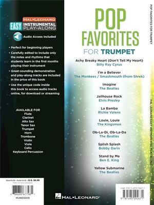 Pop Favorites - Trumpet: Trumpet, Cornet or Flugelhorn