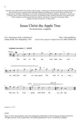 Howard Helvey: Jesus Christ the Apple Tree: Mixed Choir a Cappella